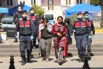 OLAY YERİ İNCELEME - Otel Şantiyesinden 15 Bin Liralık Malzeme Çalan Kadınlar Yakalandı