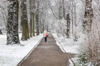 HAMBURG - Almanya'da Kar Yağışı Sokakları Beyaza Bürüdü