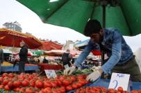 MEHMET GÜVEN - Antalya'daki Pazarlarda  Tek/Çift Numara Tezgah Uygulamasına Pazarcı Esnafından Destek