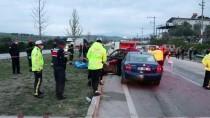 PAMUKKALE ÜNIVERSITESI - Denizli'de 1 Kişinin Öldüğü Trafik Kazası Güvenlik Kamerasına Yansıdı