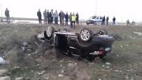 Düğün Konvoyunda Otomobil Takla Attı Açıklaması 2 Yaralı