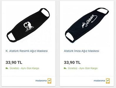 Atatürk tüccarları bu kez Atatürk imzalı maskelerden vurgun peşinde!