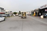 SANAYİ SİTESİ - Çarşı Yapı Ve Küçük Sanayi Sitesi Dezenfekte Edildi