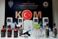 ALKOLLÜ İÇKİ - Çorum'da Kaçak İçki Ve Sigara Operasyonu