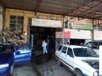 SANAYİ SİTESİ - Sanayi Sitesinde Dezenfekte Çalışması