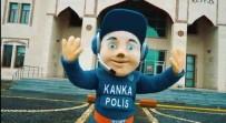 TOPLUM DESTEKLI POLISLIK - Siirt Emniyeti'nden 'Kanka Polis' Maskotuyla Çocuklara Evde Kal Mesajı