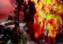 BOMBALI ARAÇ - Afrin'de patlama anı