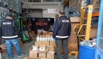 KIMYA - Düzce'de Polisten Kaçak Dezenfektan Üretimine Baskın Yapıldı