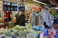 EL TEMİZLİĞİ - Edirne'de Market Ve Fırınlara Korona Virüs Denetimi