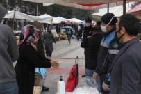 KONTROL NOKTASI - Bolu'da, Pazar Girişi Yerlerine Kontrol Noktası Kuruldu