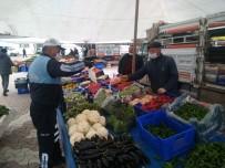 PAZARCI - Daday'da Pazar Yerinde Demir Bariyerli Korona Virüs Önlemi