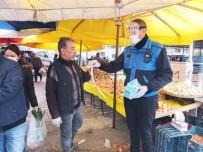 HASAN ARSLAN - Edremit Belediyesi Vatandaşa Ücretsiz Maske Dağıttı