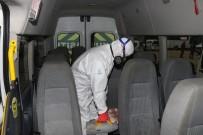 ÇAMAŞIR SUYU - Servis Araçları Denzenfekte Ediliyor