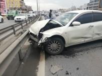 CENNET MAHALLESI - E-5 Trafiğini Kilitleyen Kaza Açıklaması 1 Yaralı