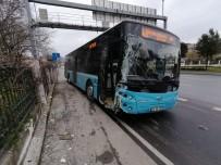 OTOBÜS ŞOFÖRÜ - Tansiyonu Düşen Otobüs Şoförü Duvara Çarparak Durabildi