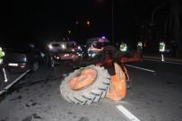 AHMET DENIZ - Alkollü Sürücü Traktöre Arkadan Çarptı Açıklaması 3 Yaralı