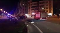 Kavşağa Çarpan Araç Takla Attı Açıklaması 2 Yaralı