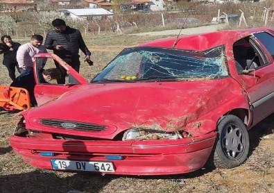 Virajı Alamayan Otomobil Takla Attı Açıklaması 1 Yaralı