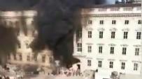 YANGINA MÜDAHALE - Almanya'daki Kent Sarayı'nda yangın: 1 yaralı