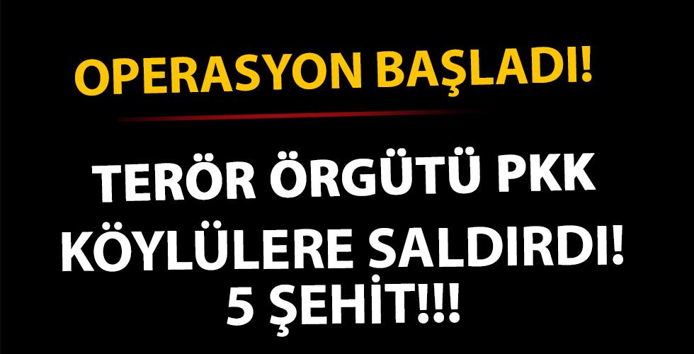 PKK'lı teröristler köylülere saldırdı!