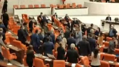 Meclis'te MHP ve HDP'li vekiller arasında gerginlik çıktı