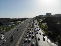 E5 KARAYOLU - İstanbul'da yine yoğun trafik yaşandı!
