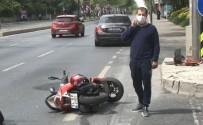 MAKAM ARACI - Ünlü Çiğköfteci Ömer Aybak lüks otomobiliyle kaza geçirdi