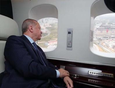 Cumhurbaşkanı Erdoğan havadan inceledi