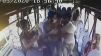 ARAÇ KAMERASI - Halk otobüsünde genç kadına büyük şok!