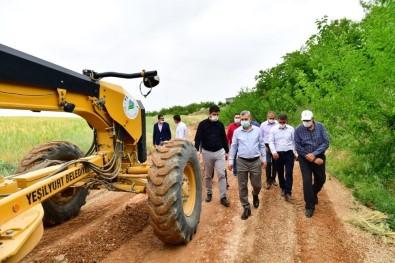 Başkan Çınar, Yol Çalışmalarını İnceledi