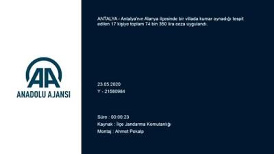 Antalya'da Villada Kumar Oynayan 17 Kişiye Para Cezası