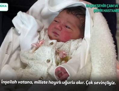 Başakşehir Şehir Hastanesi'nin ilk bebeği dünyaya geldi