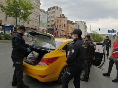 Beyoğlu'nda polis uygulamasında ilginç olay
