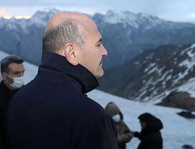 İkiyaka Dağları'ndaki üs bölgesini İçişleri Bakanı Soylu açtı