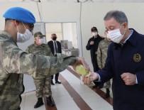 DENIZ KUVVETLERI KOMUTANı - Milli Savunma Bakanı Akar ve TSK'nin komuta kademesinden sınır hattında bayram