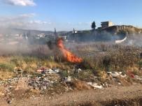 Cezaevi Yanındaki Arsada Çıkan Yangın Korkuttu