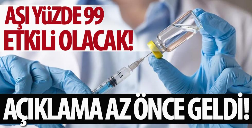 Çin'den corona virüs aşısı açıklaması! Aşı yüzde 99 etkili olacak