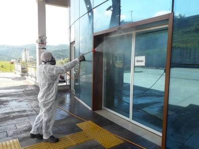 Otobüs Terminalinde Dezenfekte Çalışması Başlatıldı