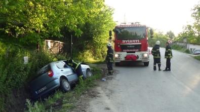 Kütahya'da Trafik Kazası Açıklaması 2 Yaralı