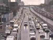 TRAFİK YOĞUNLUĞU - İstanbul'da uzun süre sonra bir ilk! Trafik yüzde 47'ye ulaştı