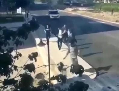 Yasağı ihlal eden grubun polisten kaçma anı