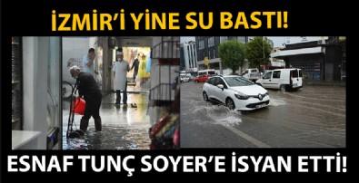 Yeni normalin ilk gününde İzmir'i yine su bastı!