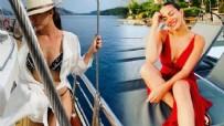 GÖCEK - Demet Özdemir'in tatili dudak uçuklattı!