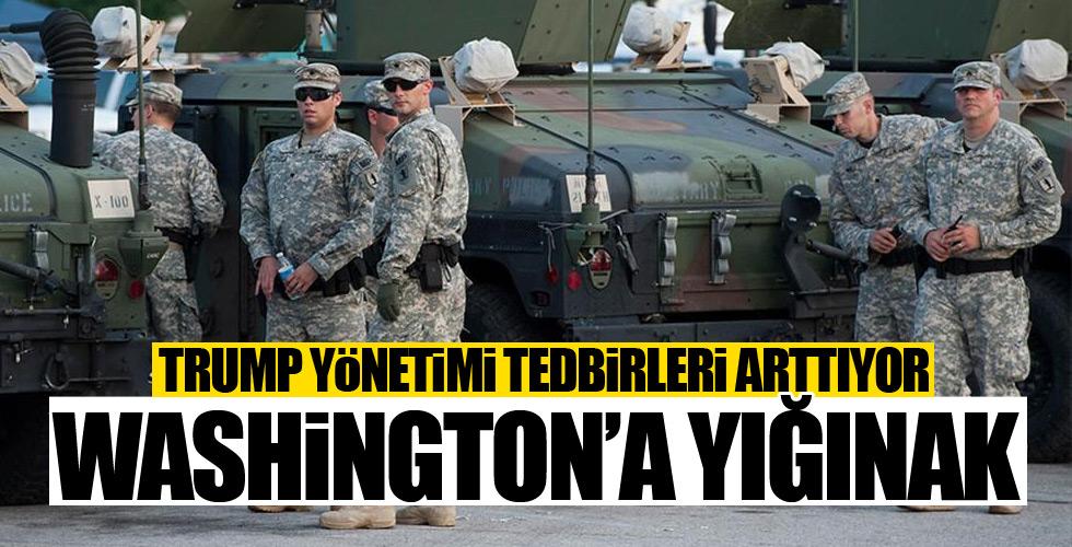 Washington'a ulusal muhafız yığınağı
