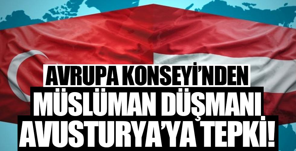 Avrupa Konseyi'nden Müslüman düşmanı Avusturya'ya tepki!