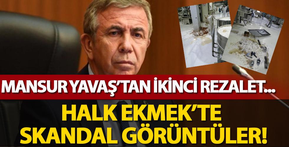 CHP'li Yavaş'ın Halk Ekmek'te ikinci rezaleti! Hijyenden uzak görüntüler şok etkisi yarattı