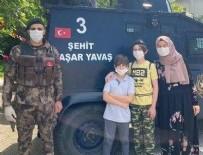 ANKARA EMNİYET MÜDÜRLÜĞÜ - Şehit oğlu Miraç LGS sınavına babasının adını taşıyan zırhlı araçla götürüldü