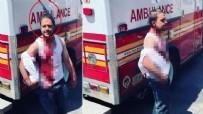 NEW YORK - Kanlar içerisinde kaldı! Kafasında bıçakla sokak ortasında...