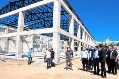Gürkan, Kongre Ve Fuar Merkezinde İnşaatında İnceleme Yaptı