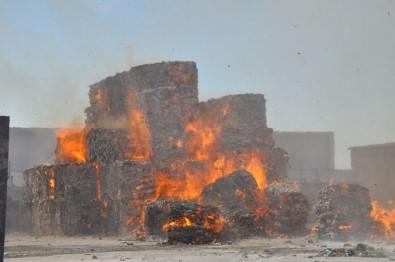Karton Fabrikasında Korkutan Yangın